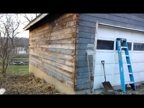 Removing Aluminum Siding from Singe Car Garage
