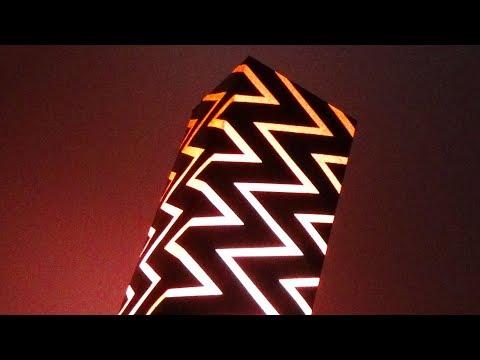 DIY Home decor - Zig Zag Lamp/Light Shade With Art Card Paper |