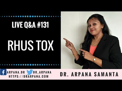 RHUS TOX Homeopathic Medicine || Live Homeopathic Consultation #131