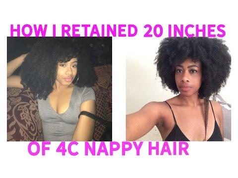 How I Grow My 4C Hair and Retain Length