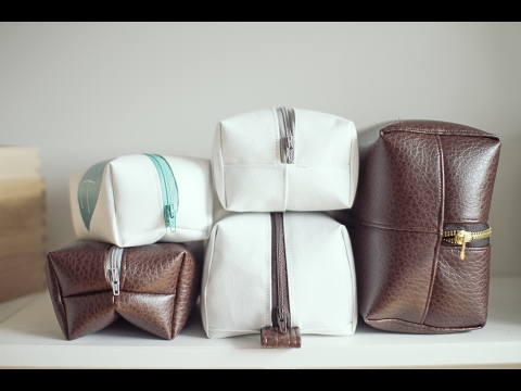 ScanNCut Tutorial Project: Leather or Canvas Toiletry Makeup bag or Dopp Kit