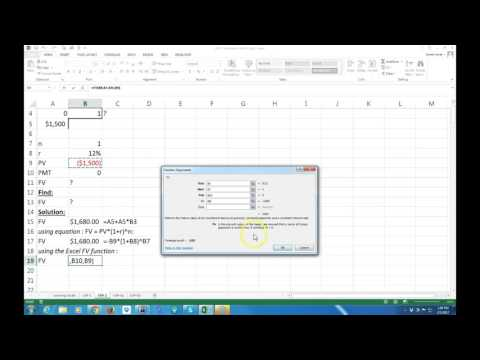 Cash Flow Diagrams, FV's and compound interest on Excel