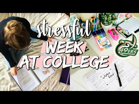 college week in my life: dealing with the STRESS of college