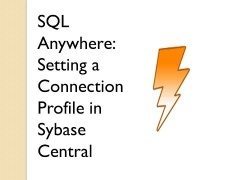 Setting Up Connection profile for SQL Anywhere Database | Sybase Central