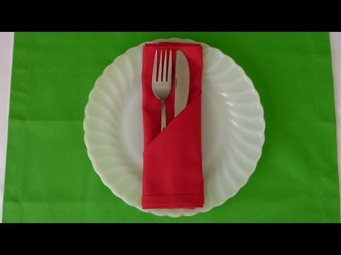 Napkin Folding - Simple Pocket