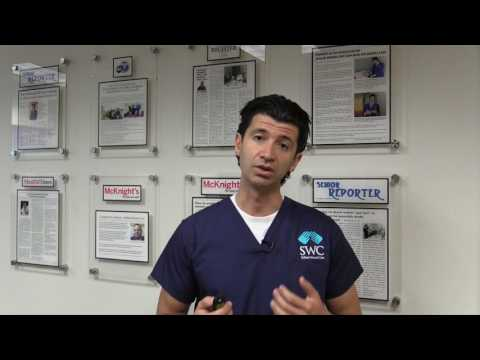 Dr. Anvar discussing diabetes related foot wounds