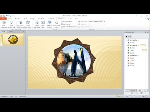 Powerpoint training |How to Animate Photo Frames with Custom Animations in powerpoint
