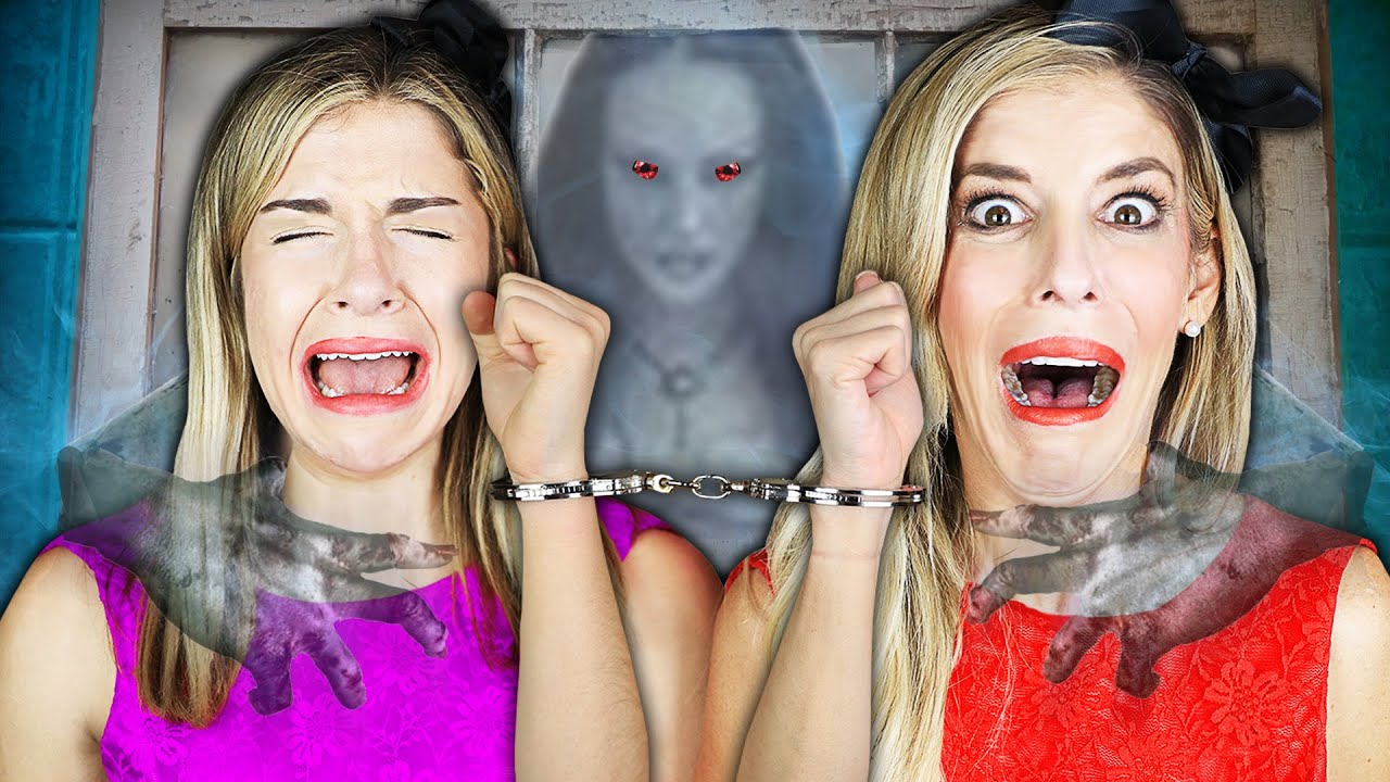 24 Hours HANDCUFFED in Hacker Mini Mansion with Real Ghost | Rebecca Zamolo