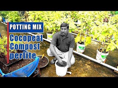 POTTING MIX-COCO PEAT,COMPOST,PERLITE