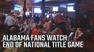 Alabama fans watch the end of the 2017 National Championship game