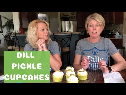 Dill Pickle Cupcakes - Pickle Ice and More