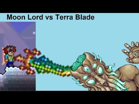 Terraria Moon Lord VS Terra Blade