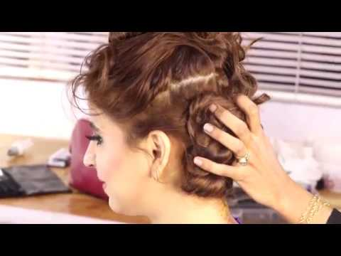 Bun With Curls Around | How to make fancy curly Bun | High fashion