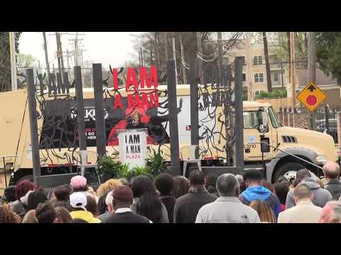 4.5.18: #MLK50: I Am A Man Plaza Dedication Ceremony Live From Memphis