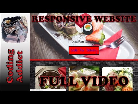 Responsive Website HTML5/CSS3/BOOTSTRAP/JQUERY 0 - Full Video