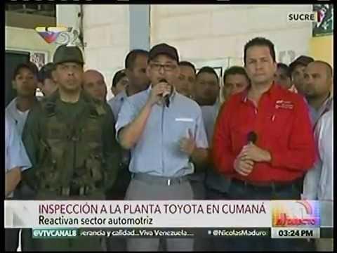 Ejecutivo inspecciona planta Toyota de Cumaná