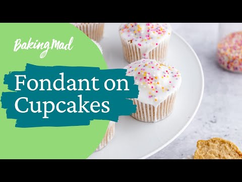 How to ice a cupcake with fondant icing | Baking Mad
