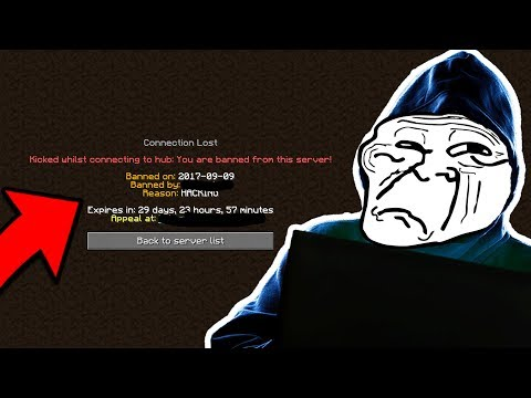 MY SMALL TROLL RUINED THE SERVER FOREVER (Minecraft Trolling)