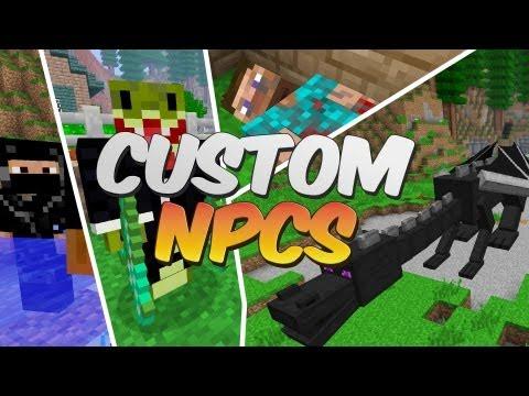 Make Your Minecraft Builds Come To Life - Custom NPC Mod Showcase