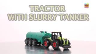Learn Farm Vehicles | Tractor With Slurry Tanker | Tractor | Video For Kids