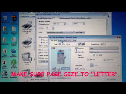 How to Change Default Setting on Canon IR Series Printer Driver