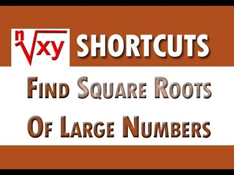 Shortcut To Find Square Of Any Number Fast  - Tricks to find Square Roots of Large Numbers