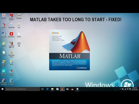 Matlab takes too long to start - Fixed