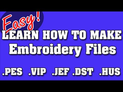 NEVER PAY FOR EMBROIDERY FILES AGAIN - HOW TO DIGITIZE LOGOS YOURSELF
