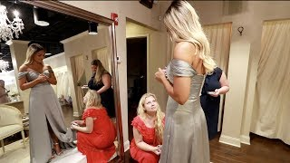 TRYING ON MY BRIDESMAID DRESS | ALEX & MICHAEL