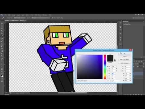 How to make a cartoon of a Minecraft Character!