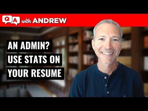 Resume Tip: Use Stats to Show Value in Your Admin Position: Andrew LaCivita's CoachCast Clip 005