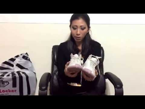 Wife's Jordan Retro 12 Heiress Lilac unbox on feet review