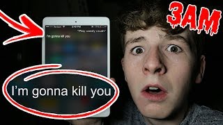 DO NOT SAY THIS TO SIRI AT 3AM!!! *SCARY RESPONSE* (3AM CHALLENGE)