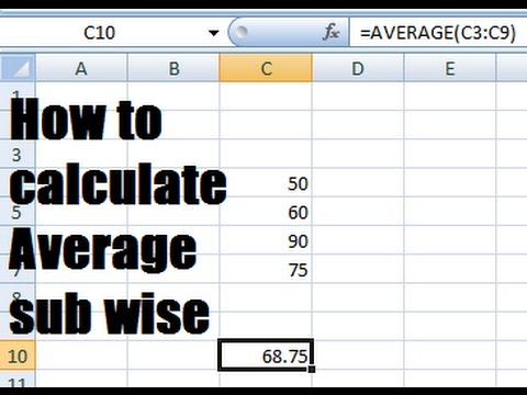 how to calculate average percentage in excel
