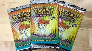 3x Misty Gym Heroes Vintage Pokemon Pack Opening