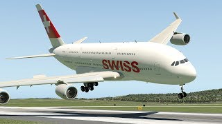 Download Swiss Airlines A380 Emergency Landing At Zurich | X-Plane 11