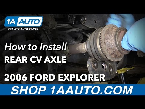 How to Replace Rear CV Axle 06-10 Ford Explorer