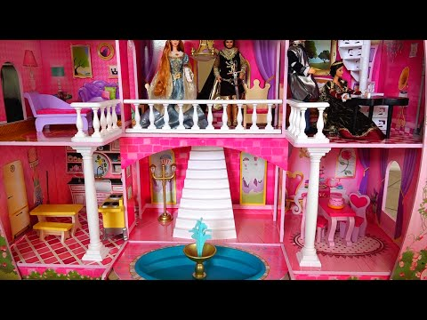 My New Barbie Dollhouse! Cute Toy Fairy Tale Castle Review and Tour - Kid-friendly Family Fun
