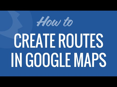 Routes in Google Maps