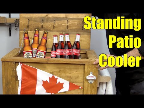 How to Make a Standing Patio Cooler (Ice Chest) for BBQ Season | Woodworking Project