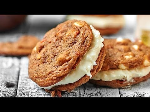 Carrot Cake Cookies with Toasted Coconut Cream Cheese Frosting
