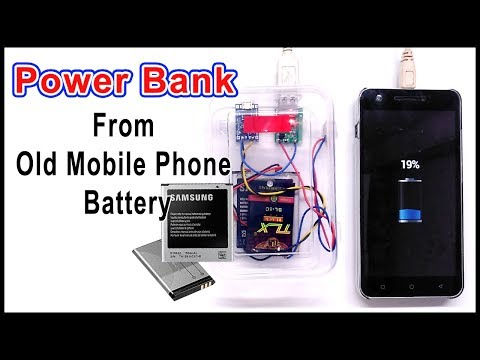How to make Power bank using old cell phone battery