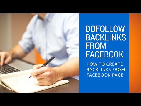 How To Create Do Follow Backlinks from facebook page