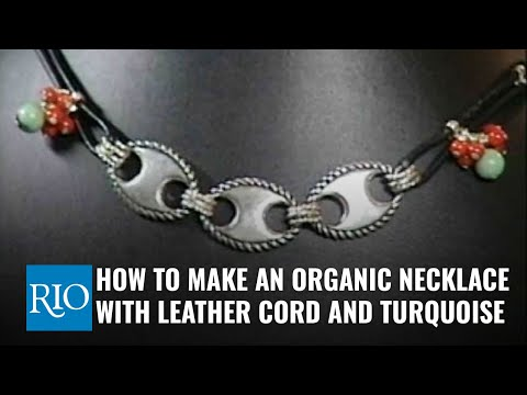 How to Make An Organic Necklace With Leather Cord And Coral