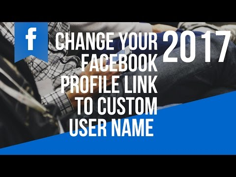 How To Change Your Facebook Profile Link To A Custom User Name 2017 with Rigo Soto