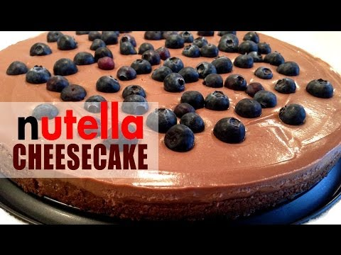 ✿ NUTELLA CHEESECAKE Recipe | NO BAKE | It's Time to Cook!