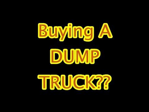 Buying A Dump Truck
