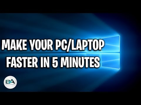 How to make your PC/Laptop run faster in 5 MINUTES !