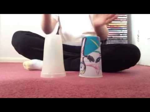 How to do the cup song with two cups