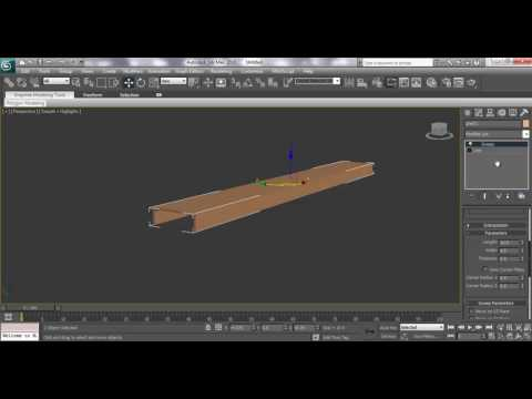 3ds max Modeling Tutorial: How to use sweep modify